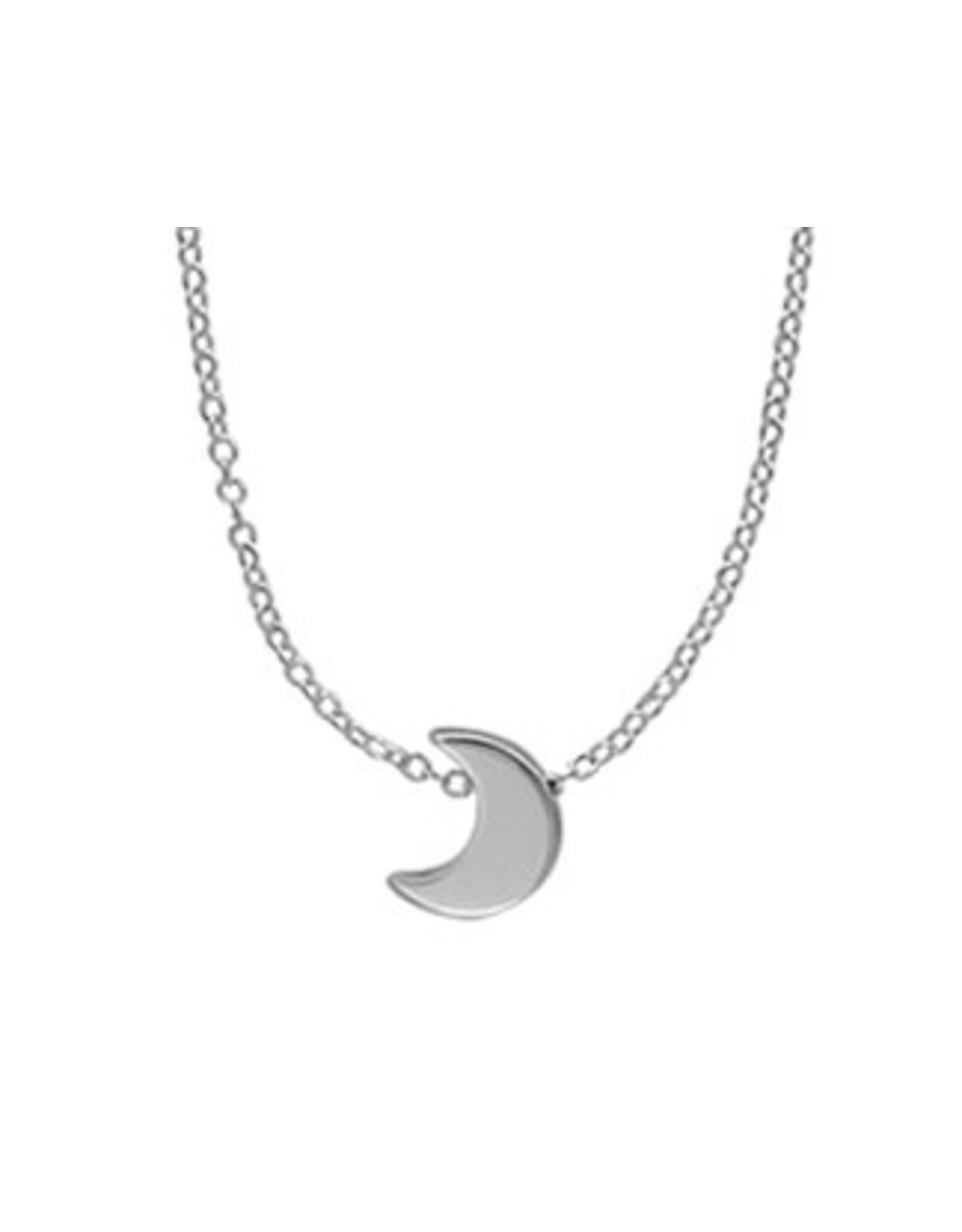 "Boma CRESCENT MOON NECKLACE 18"" SILVER"