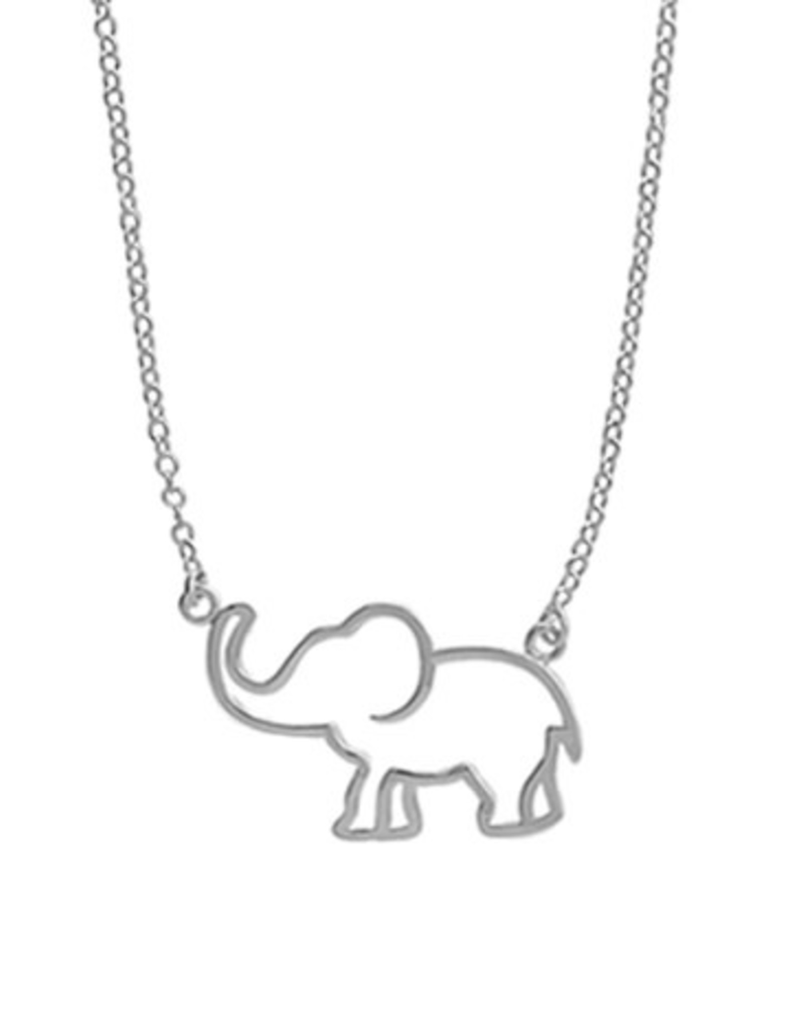 "Boma ELEPHANT CUTOUT NECKLACE 18"" SILVER"