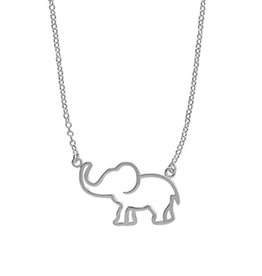 "Boma ELEPHANT CUTOUT NECKLACE 18"" SILVER"