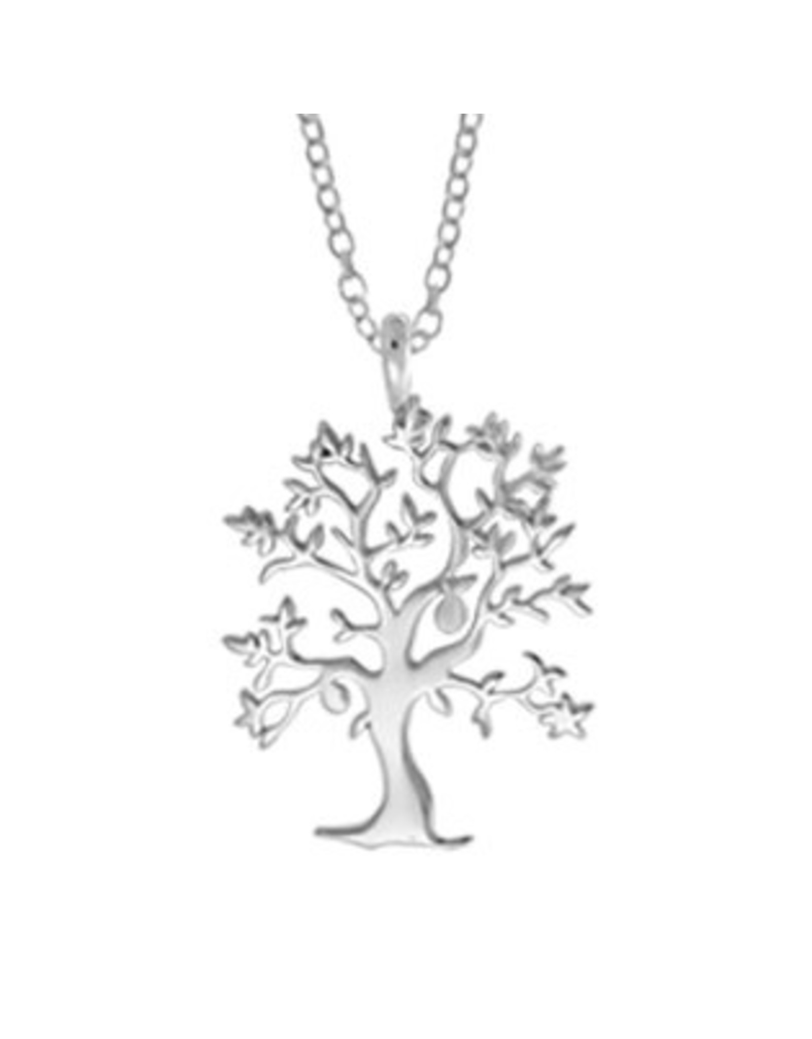 """Boma TREE OF LIFE NECKLACE 18"""" SILVER"""