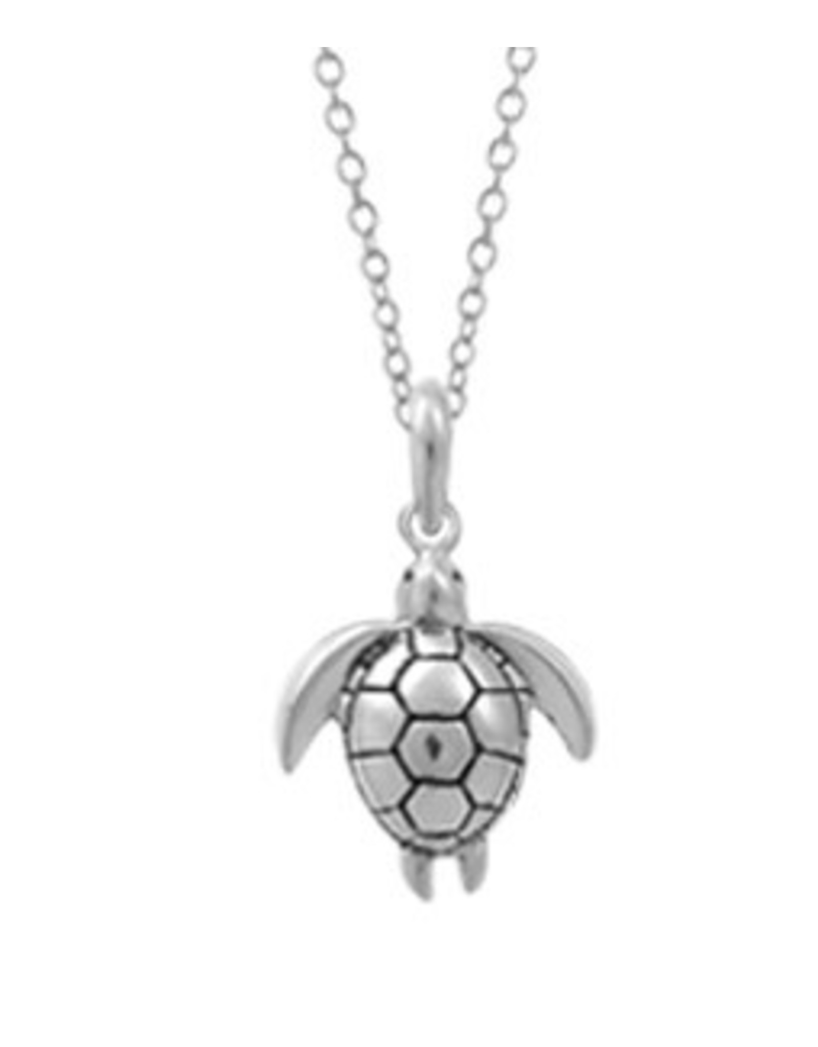 """Boma TURTLE NECKLACE 18"""" SILVER"""