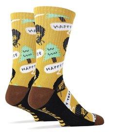 JY Socks BOB ROSS HAPPY TREE SOCKS