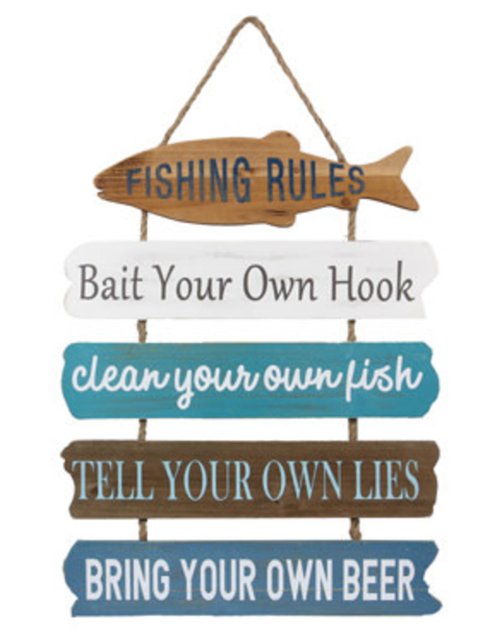 Youngs WOOD LAKE FISHING RULE SIGN