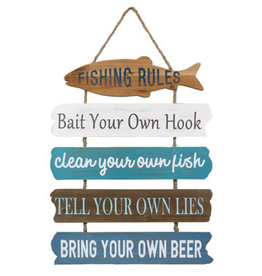 Youngs WOOD LAKE FISHING RULE SIGN