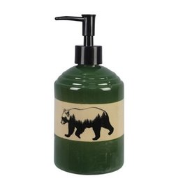 Youngs STONEWARE CABIN/BEAR LOTION DISPENSER
