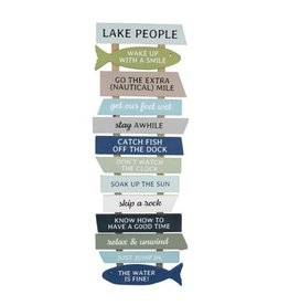 Youngs LAKE PEOPLE SLAT SIGN