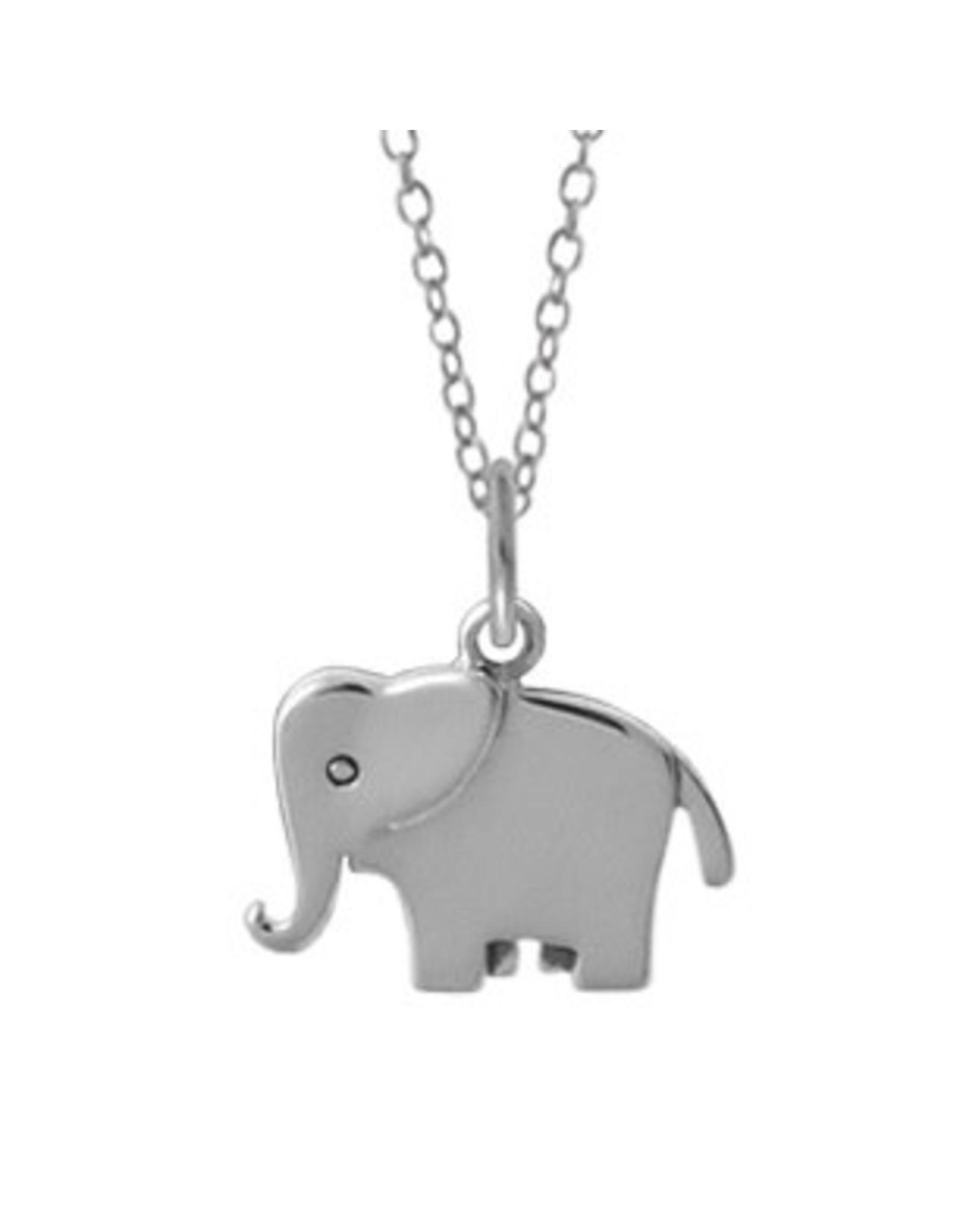 "Boma ELEPHANT NECKLACE 18"" SILVER"