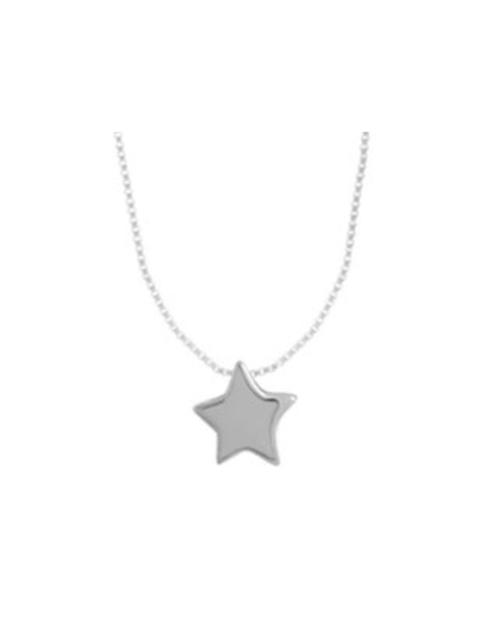 "Boma STAR NECKLACE 18"" SILVER"