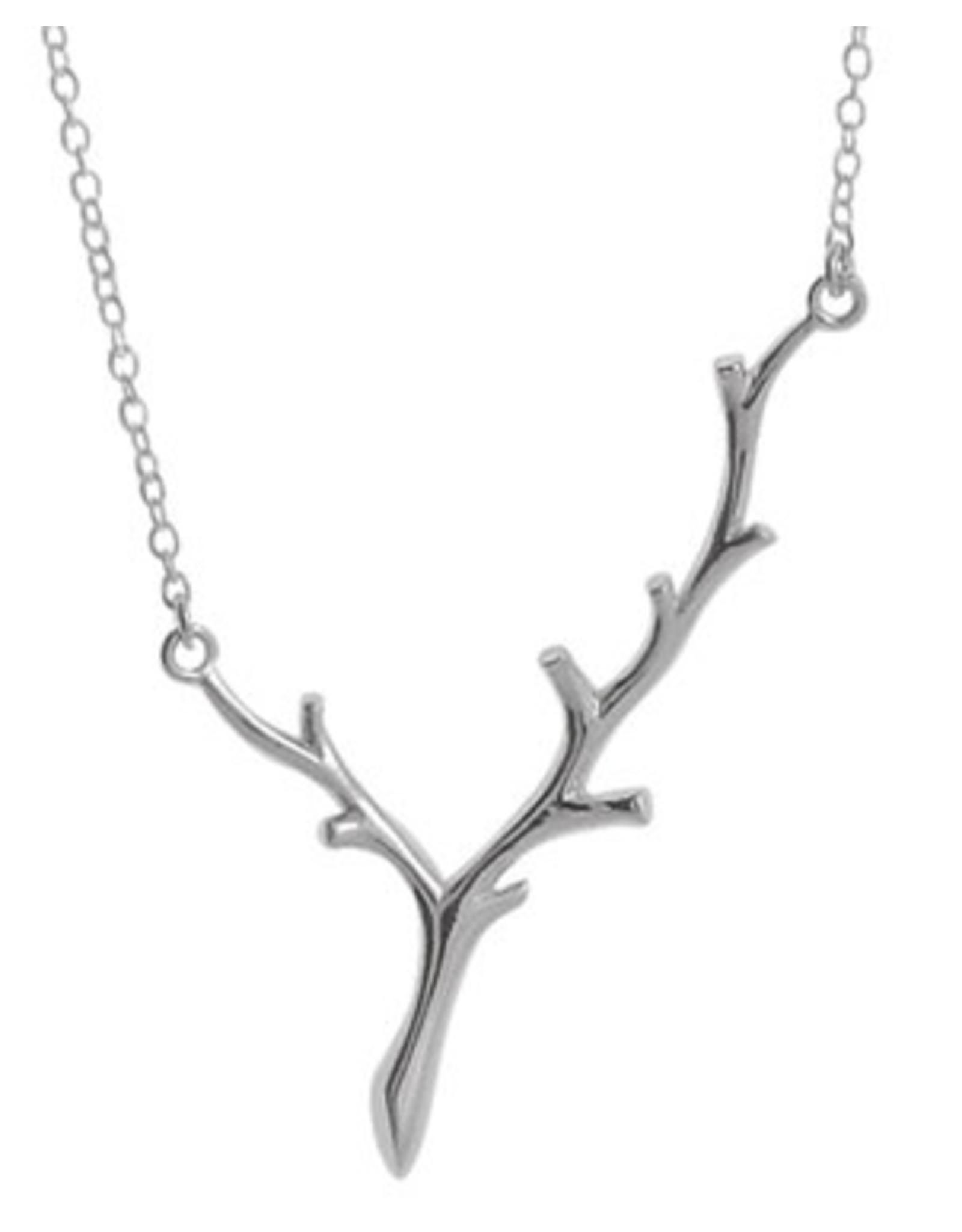 """Boma BRANCH NECKLACE 18"""" SILVER"""