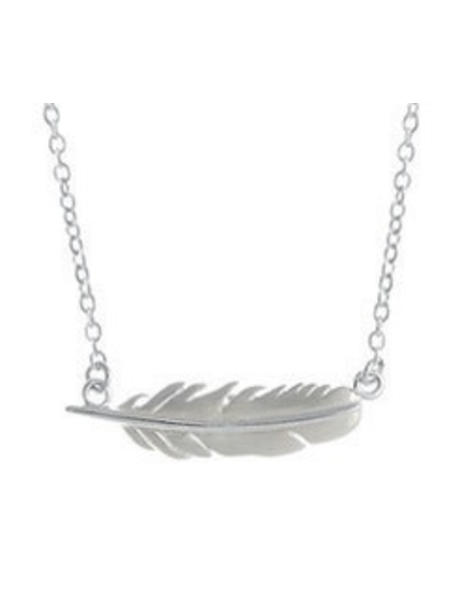 """Boma FEATHER NECKLACE 16""""+2 SILVER"""