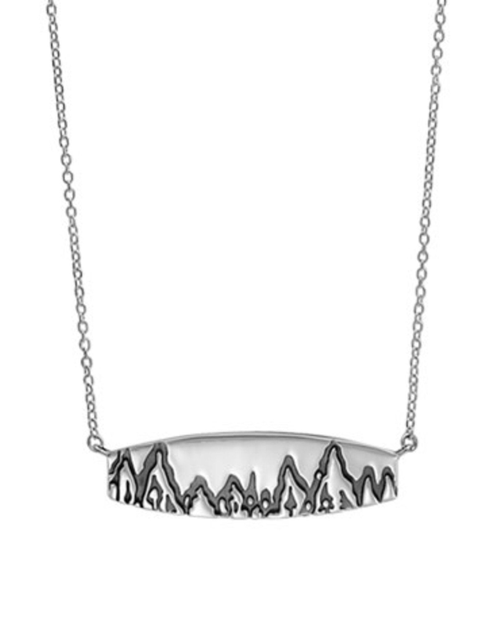 "Boma MOUNTAIN BAR NECKLACE 20"" SILVER"