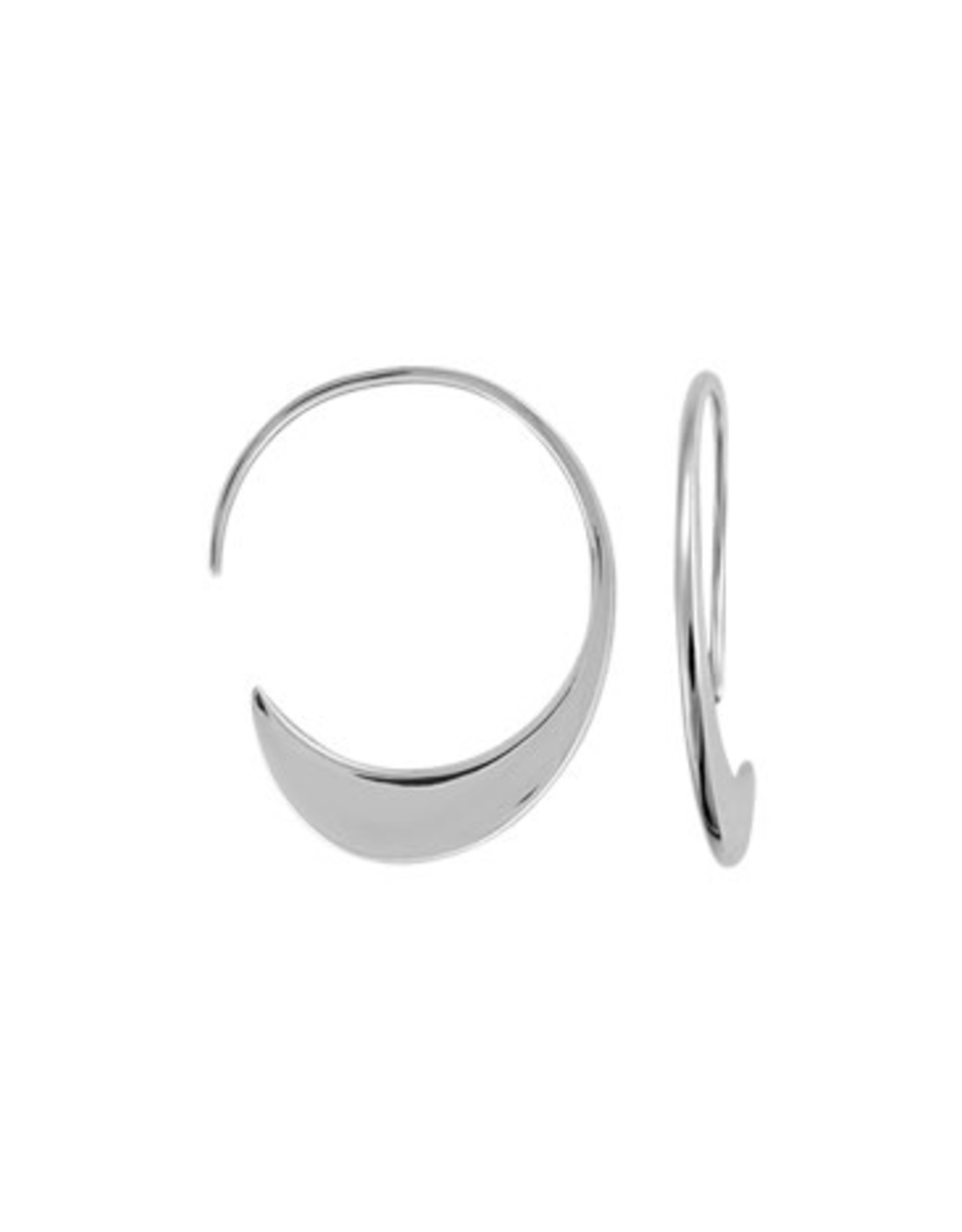 Boma WIDE HOOP THREADER EARRING SILVER