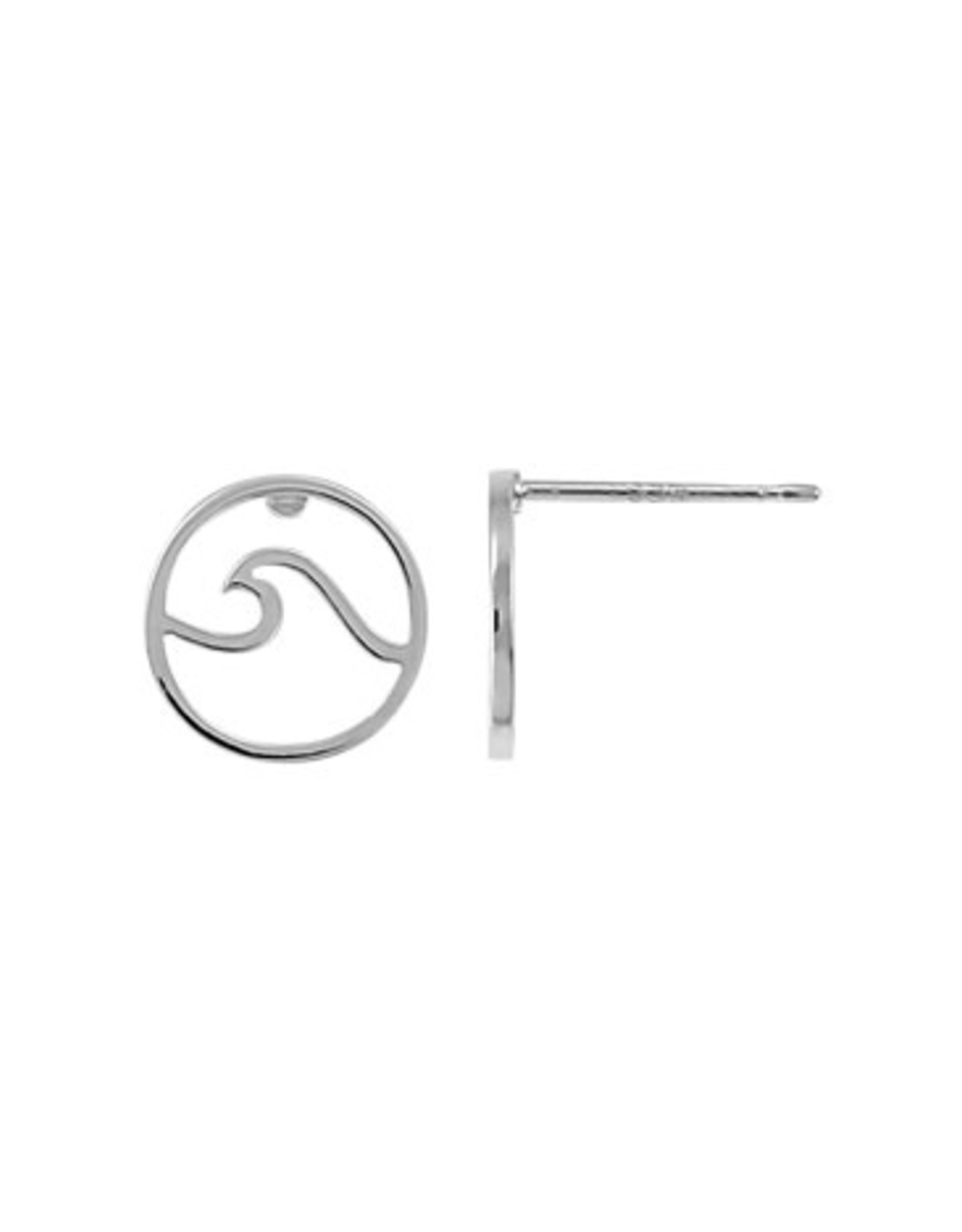 Boma WAVE STUD EARRING SILVER