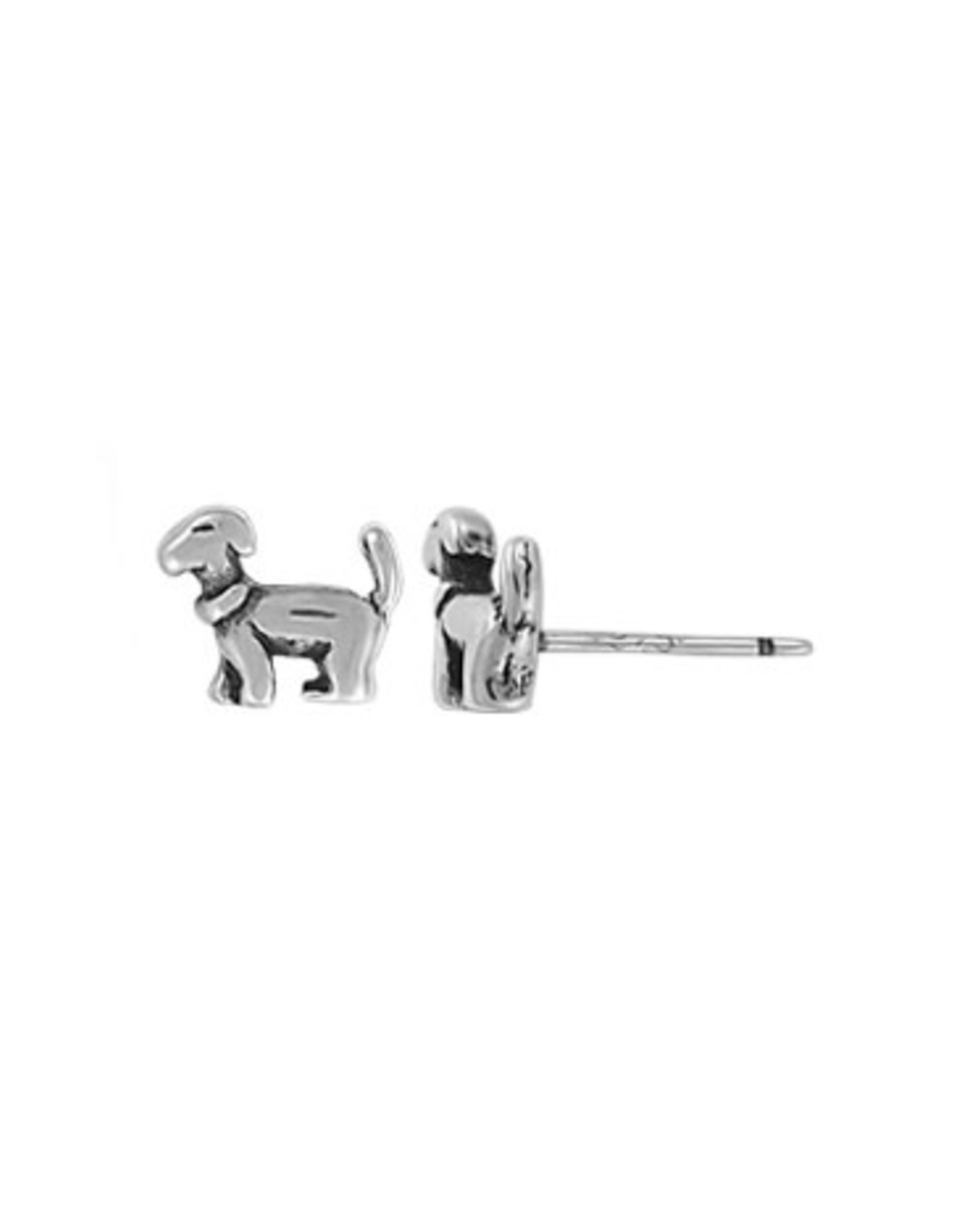 Boma DOG STUD EARRING SILVER