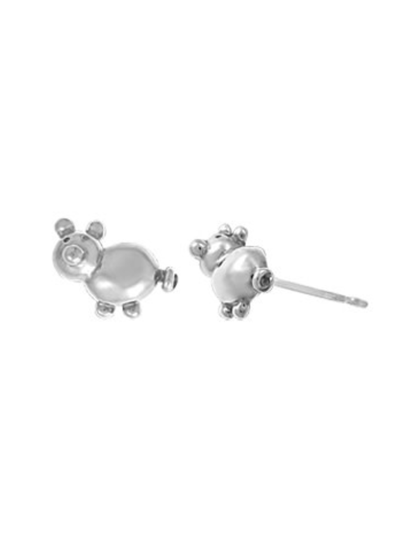 Boma PIG BALLOON STUD EARRING SILVER