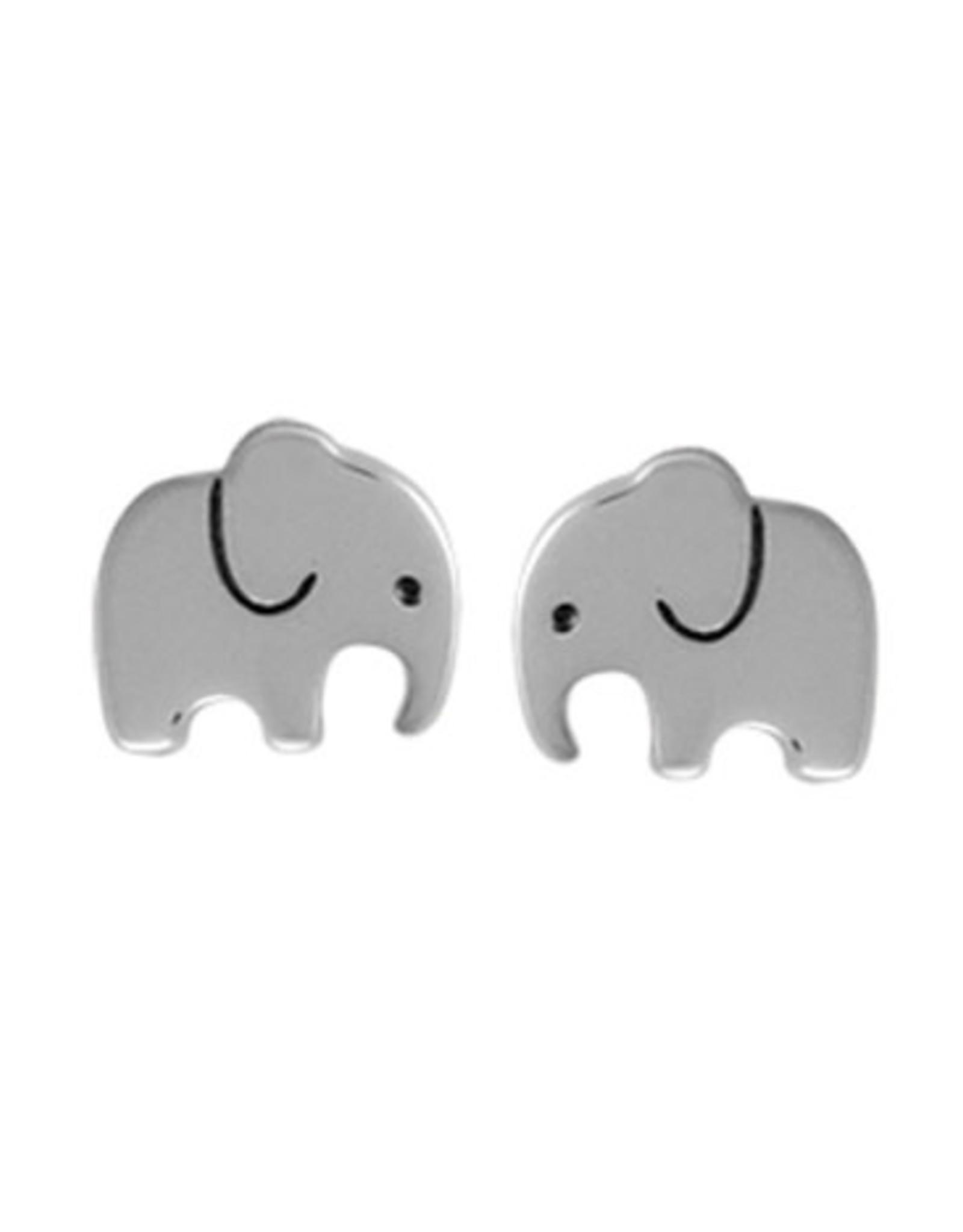 Boma ELEPHANT STUD EARRING SILVER