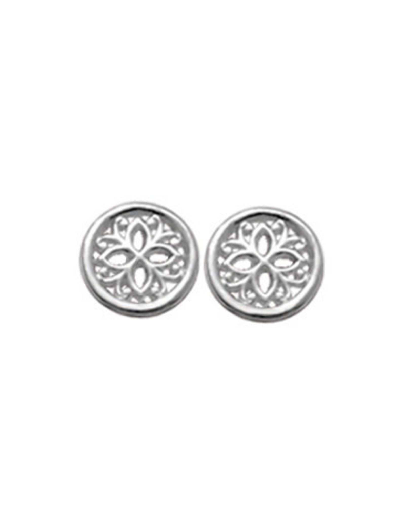 Boma FILIGREE ROUND STUD EARRING SILVER