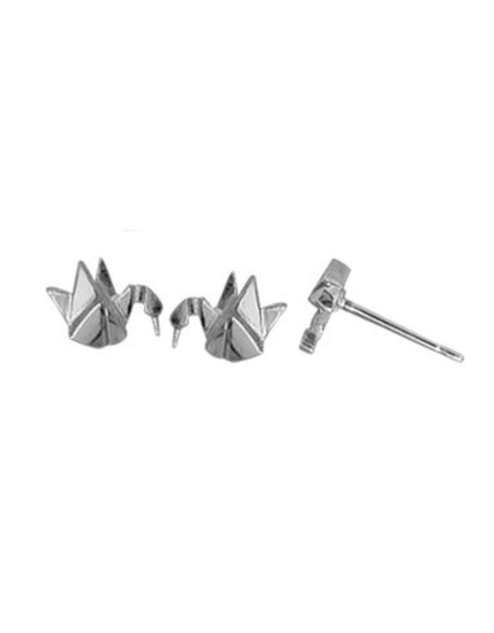 Boma CRANE ORIGAMI STUD EARRING SILVER