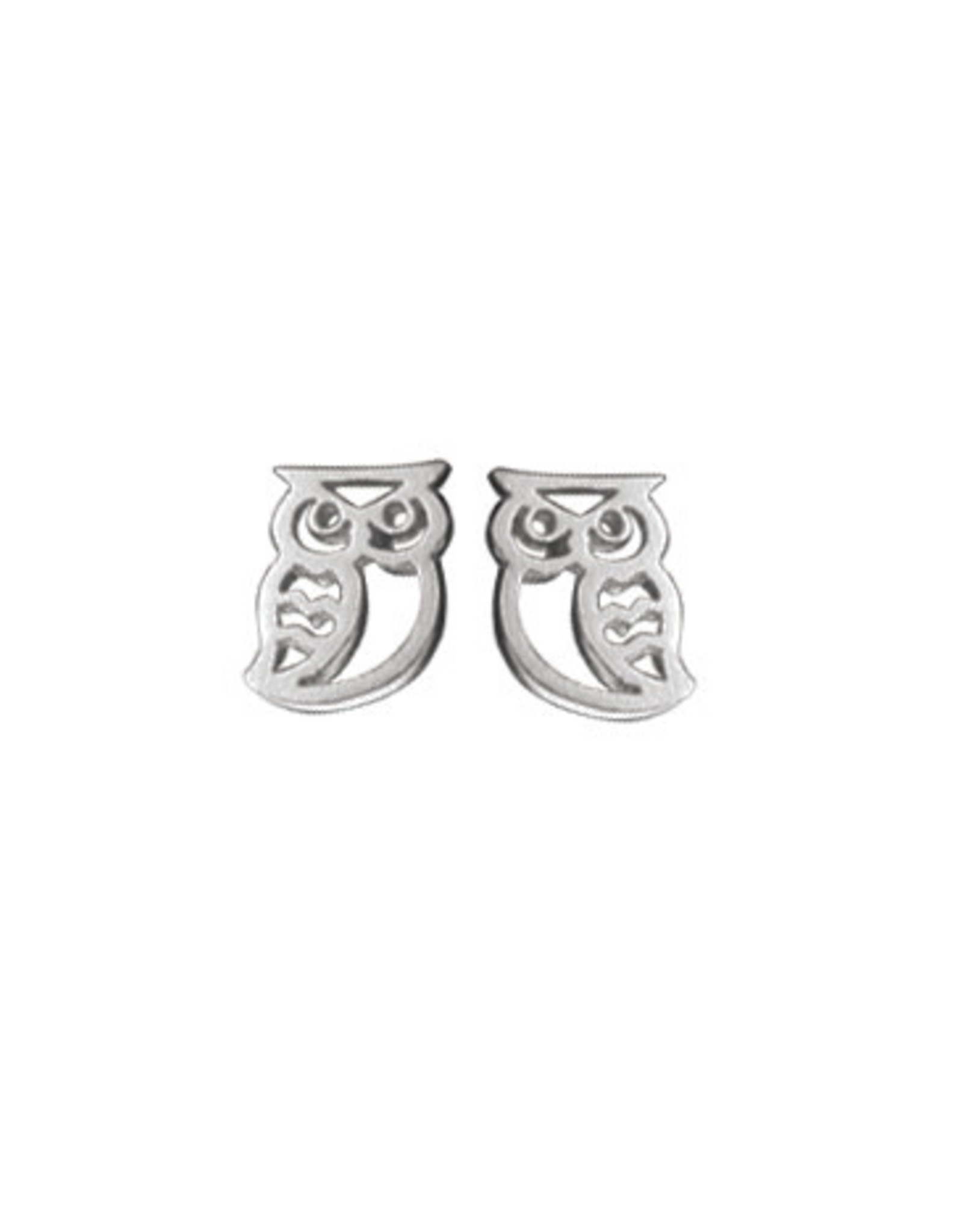 Boma OWL STUD EARRING SILVER