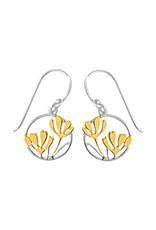 Boma FLOWER ROUND FISHHOOK EARRING GOLD VERMEIL SILVER