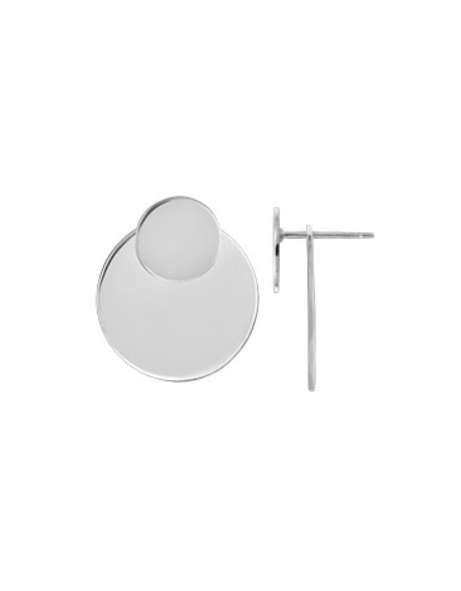 Boma CIRCLE LAYER POST EARRING SILVER