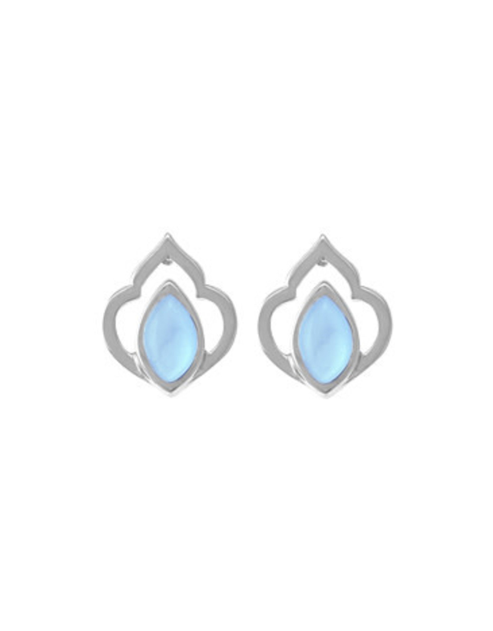 Boma BLUE MOTHER OF PEARL TEARDROP EARRING SILVER