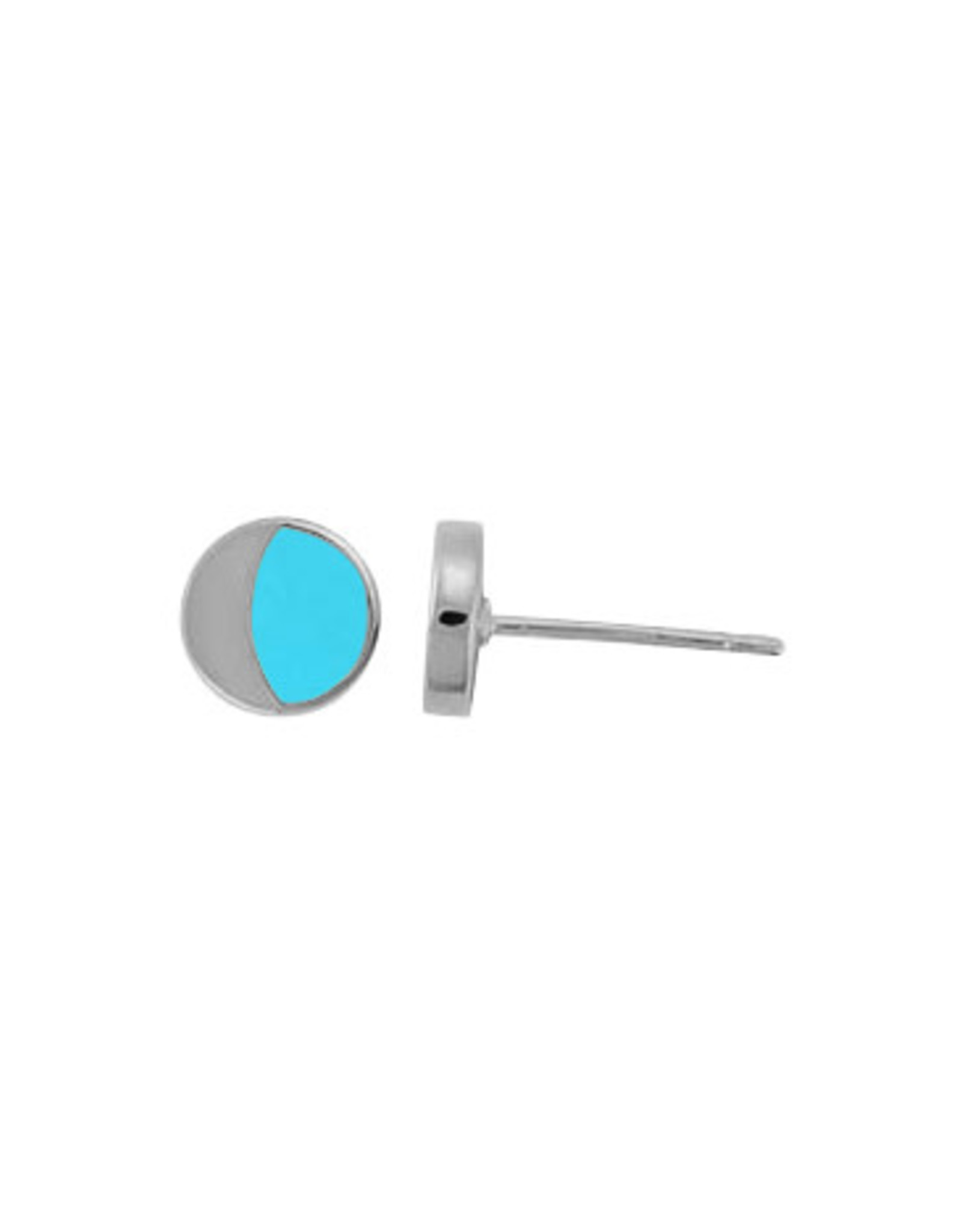 Boma MOON TURQUOISE STUD EARRING SILVER