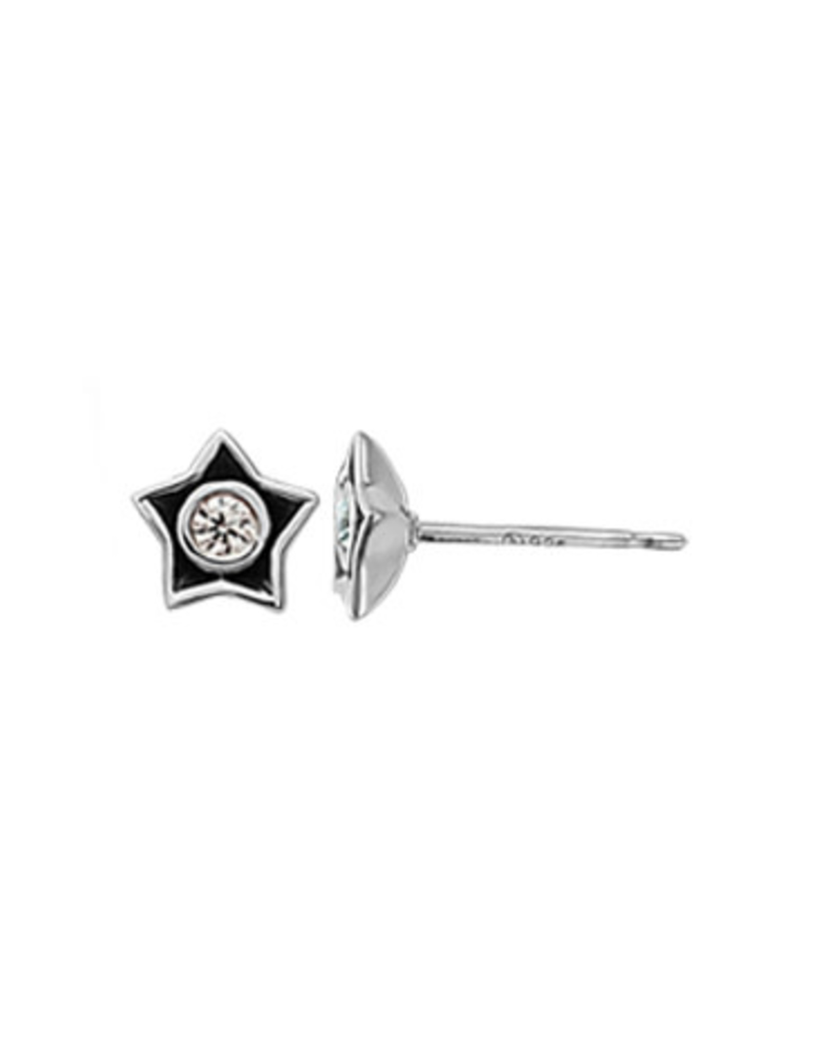 Boma STAR CUBIC ZIRCONIA STUD EARRING SILVER