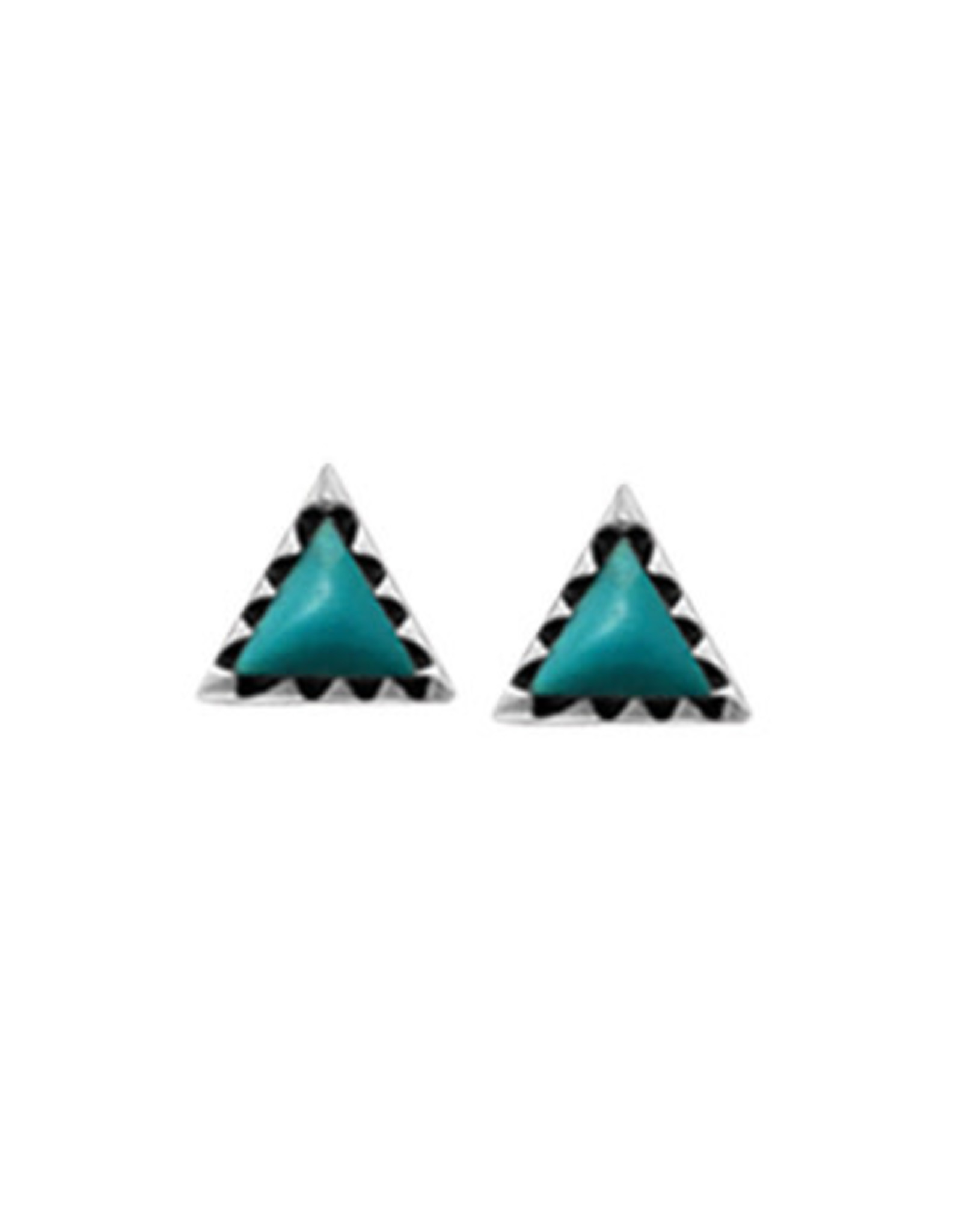 Boma TRIANGLE TURQUOISE STUD EARRING SILVER