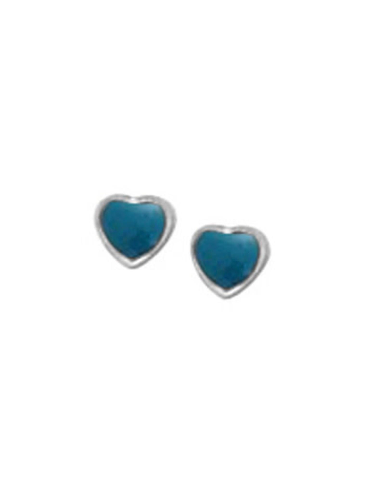 Boma HEART BLUE RESIN STUD EARRING SILVER