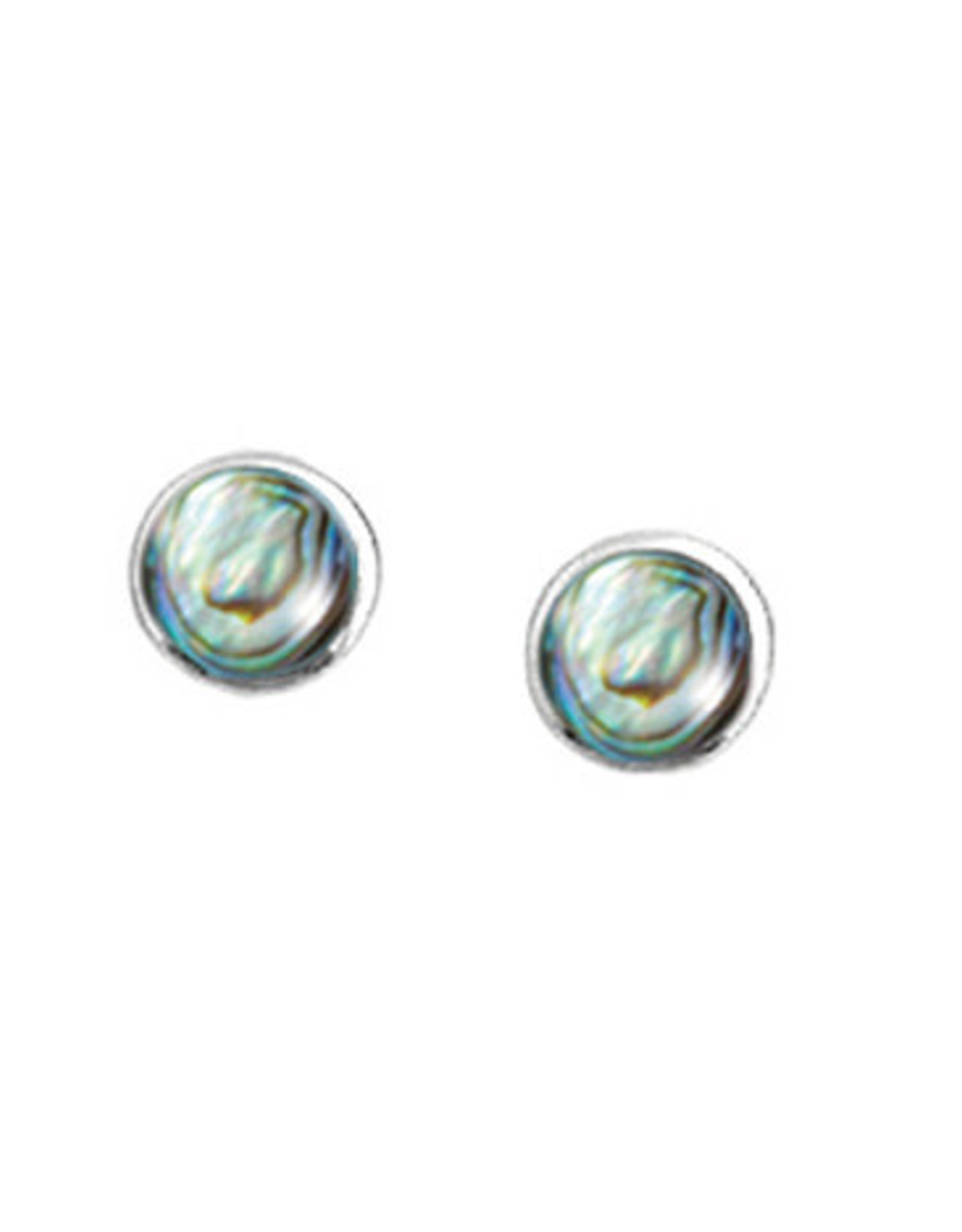 Boma ROUND ABALONE STUD EARRING SILVER