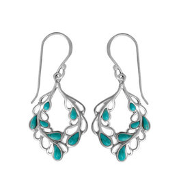 Boma TURQUOISE FISHHOOK EARRING SILVER