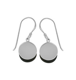 Boma ONXY CIRCLE LAYER FISHHOOK EARRING SILVER