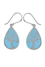 Boma TREE BLUE RESIN FISHHOOK EARRING SILVER
