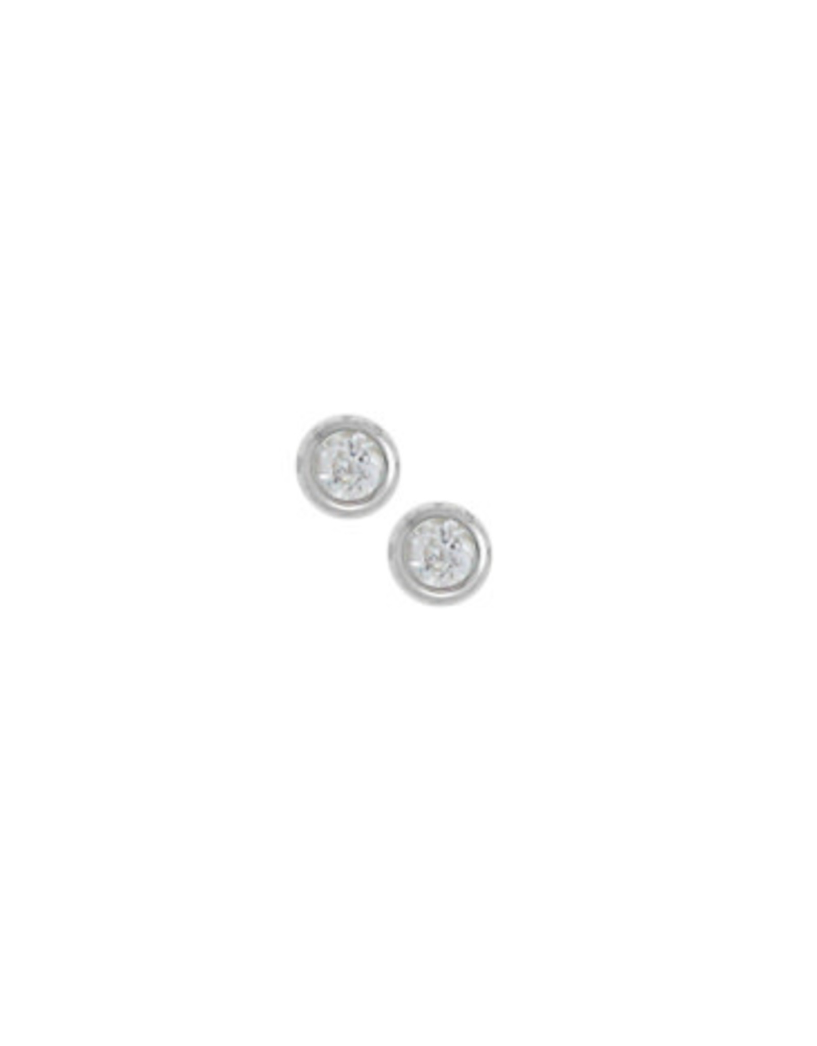 Boma CUBIC ZIRCONIA STUD EARRING SILVER