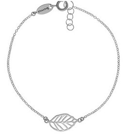 "Boma LEAF BRACELET 7"" ADJUSTABLE SILVER"