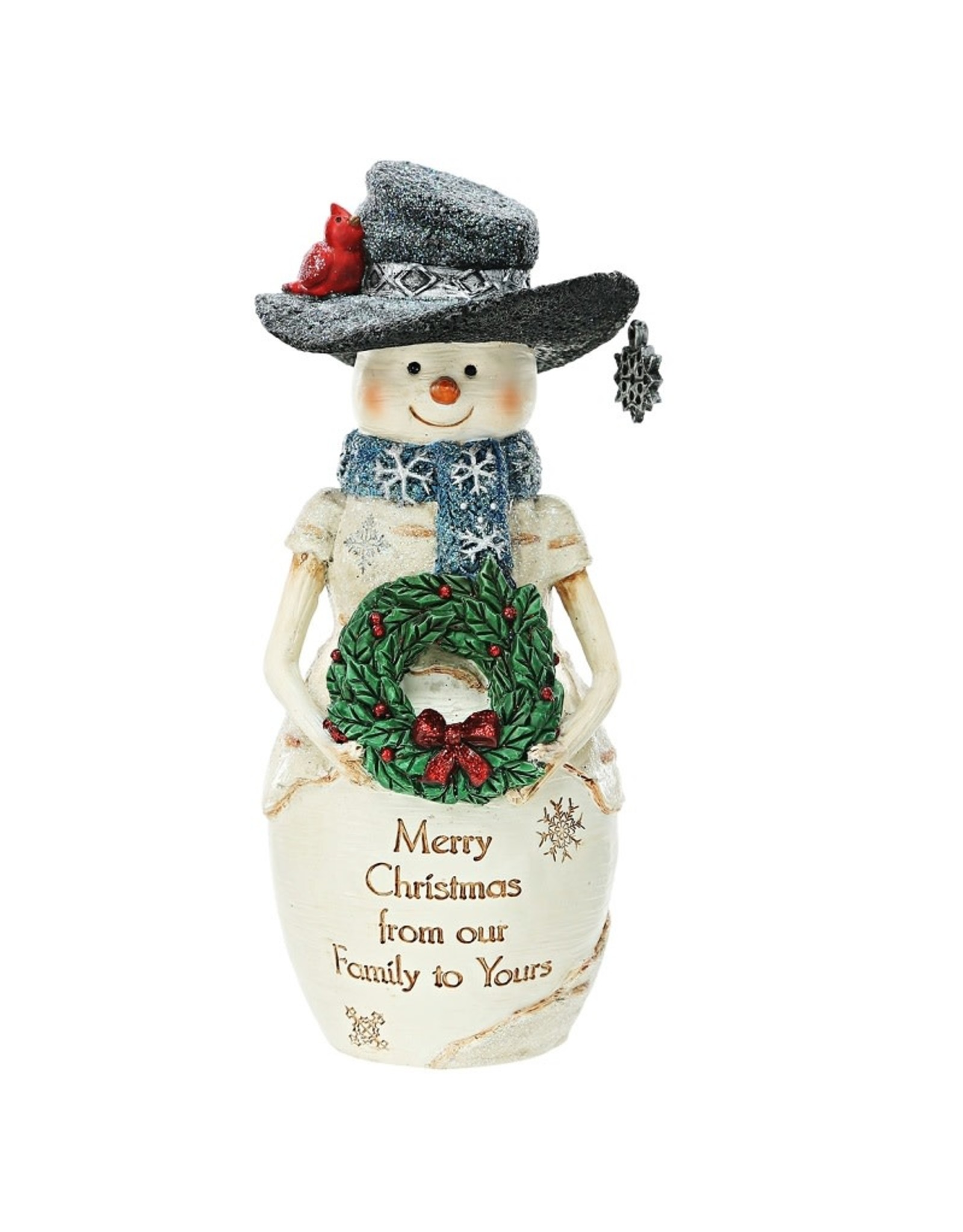 Pavilion Gift CHRISTMAS FAMILY SNOWMAN WITH WREATH