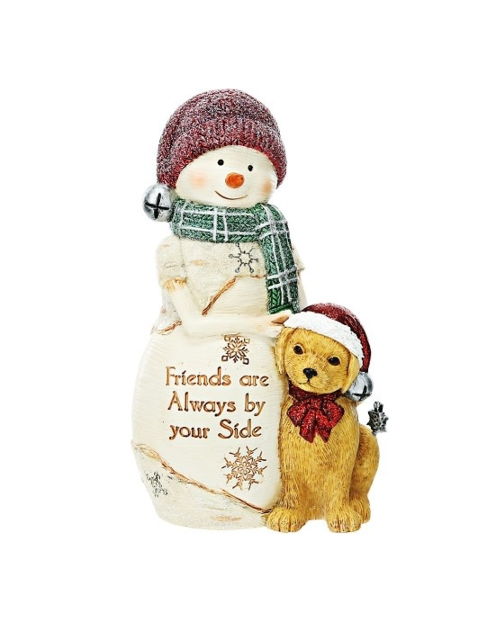 Pavilion Gift FRIENDS BY YOUR SIDE SNOWMAN WITH DOG