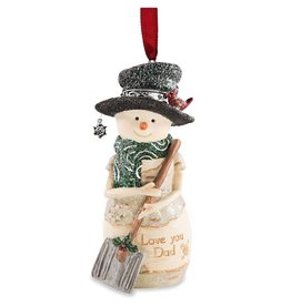 Pavilion Gift DAD SNOWMAN ORNAMENT