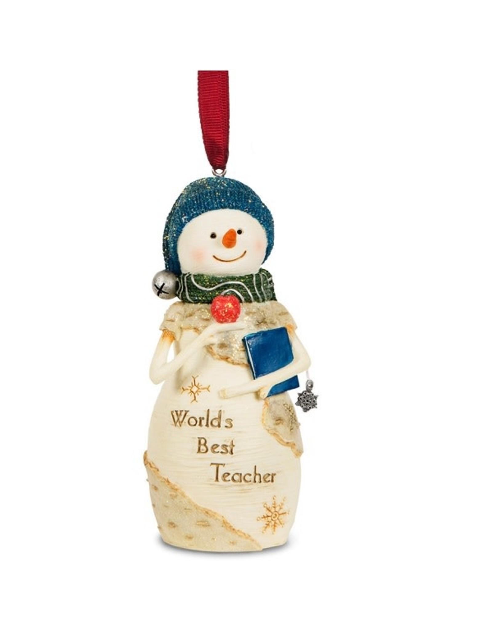Pavilion Gift TEACHER SNOWMAN ORNAMENT