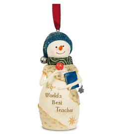 Pavilion Gift TEACHER SNOWMAN ORNAMENT