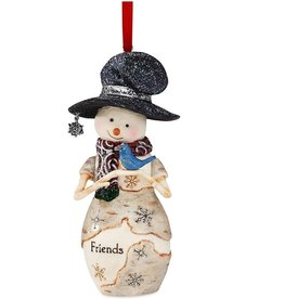 Pavilion Gift FRIENDS SNOWMAN ORNAMENTAMENT