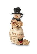 Pavilion Gift FRIENDS SNOWMAN WITH FAWN