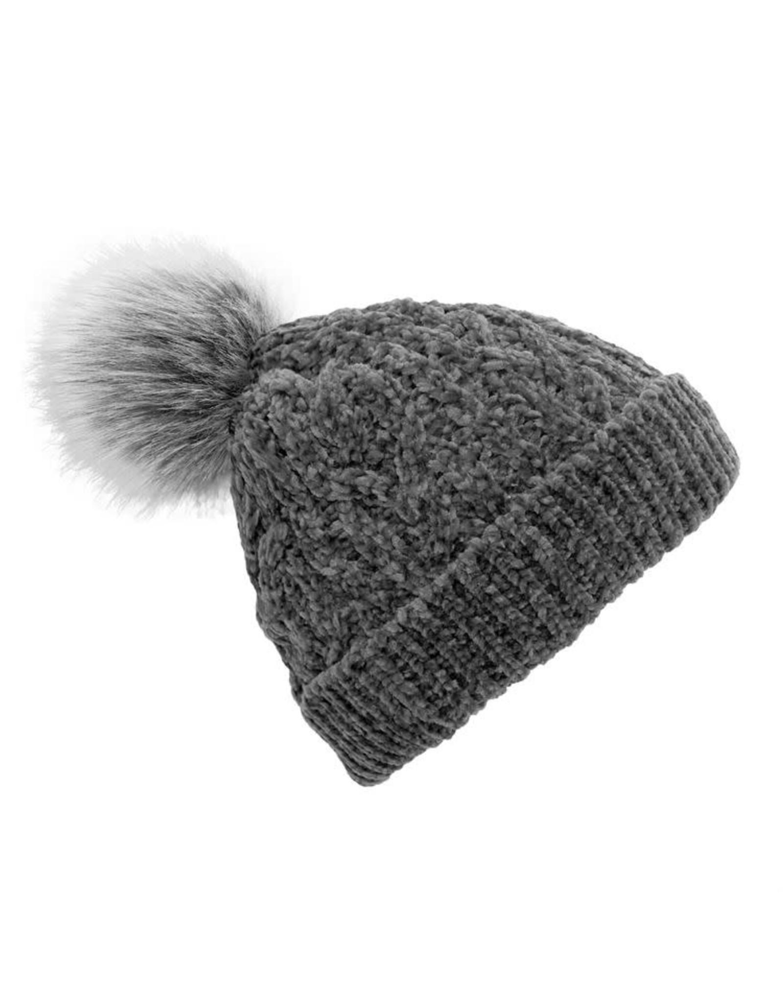 Pudus CABLE KNIT CHENILLE HAT