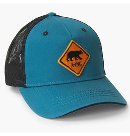 Little Blue House Bear X-ing Adult Baseball Cap