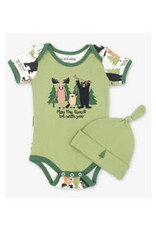 Little Blue House MAY THE FOREST BE WITH YOU BABY BODYSUIT AND HAT