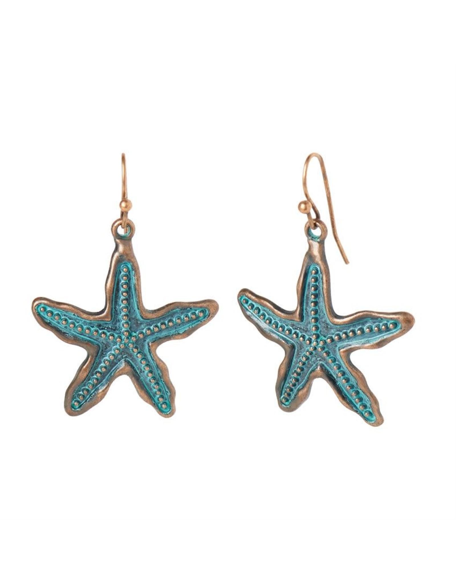 TGB / Good Bead STARFISH PATINA EARRINGS