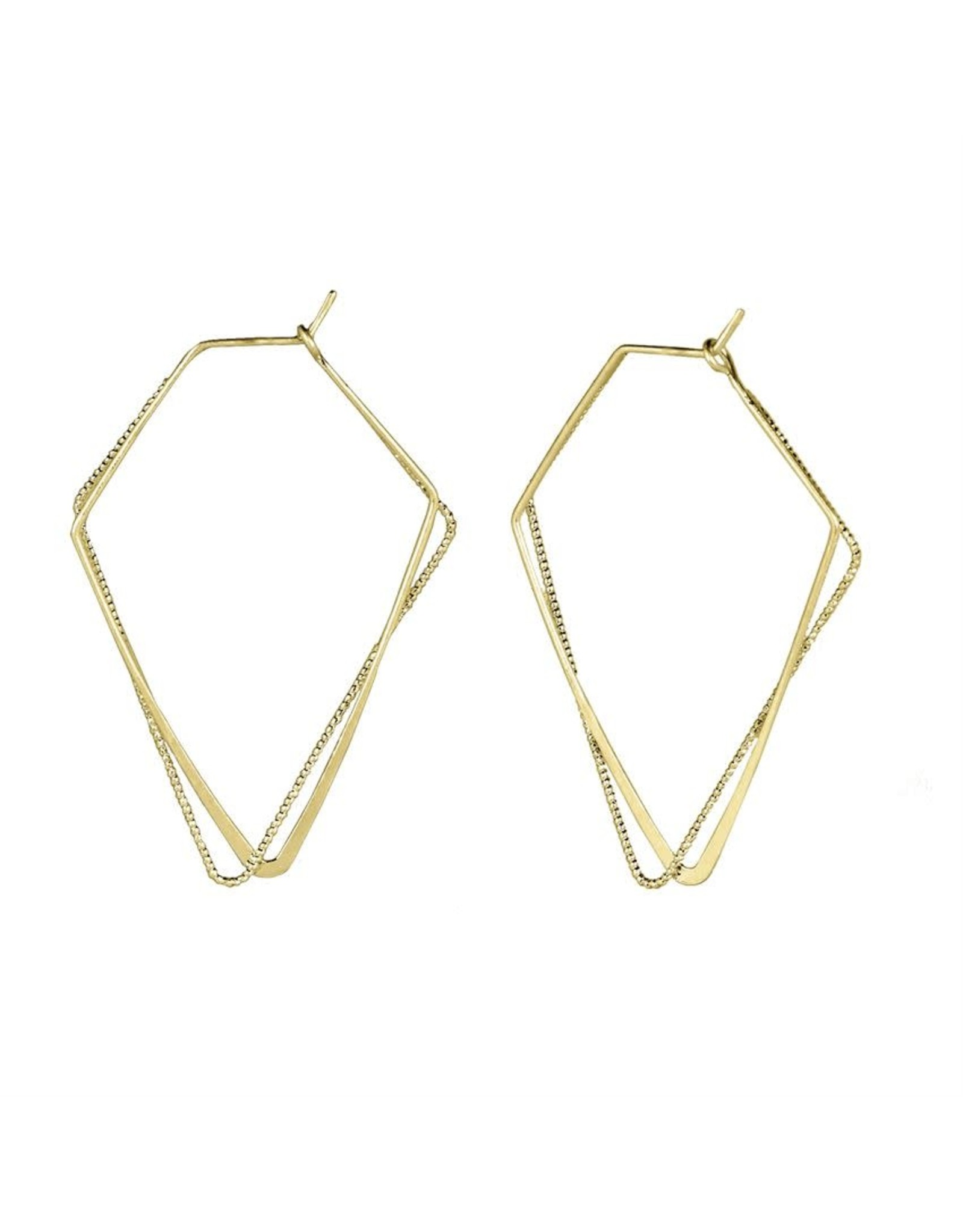 TGB / Good Bead GOLD DELICATE TRIANGLE DANGLE EARRING