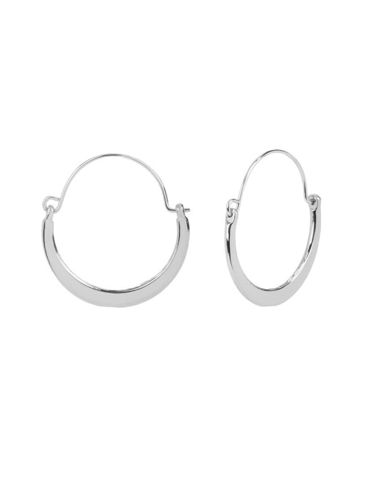 TGB / Good Bead FLAT CRESCENT HOOP EARRINGS