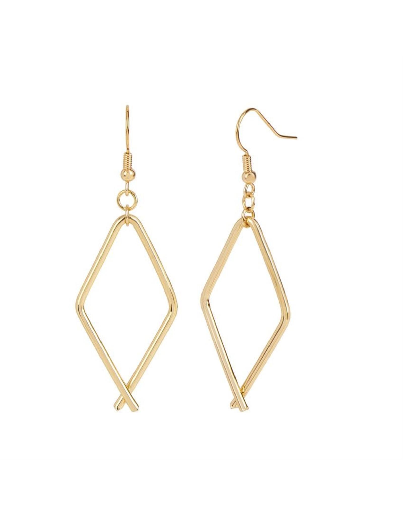 TGB / Good Bead DIAMOND LINK EARRINGS GOLD